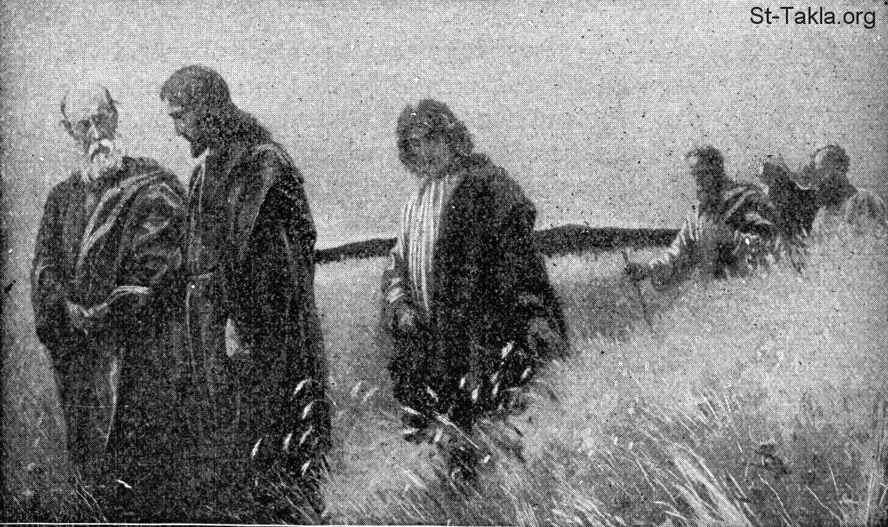www-st-takla-org-jesus-and-his-disciples-in-the-field-of-grain-1-from-story-of-the-bible-by-rv-hurlbut